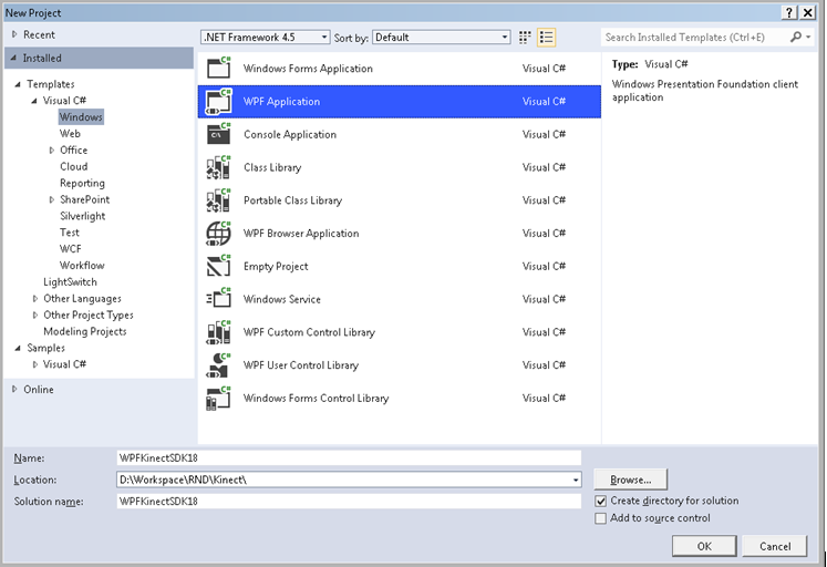 WPF Application project