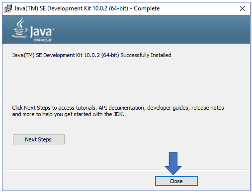 JDK Kit installed