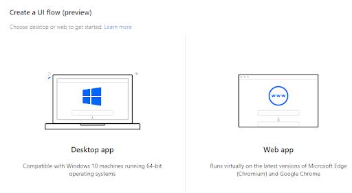 UI flow desktop app - web