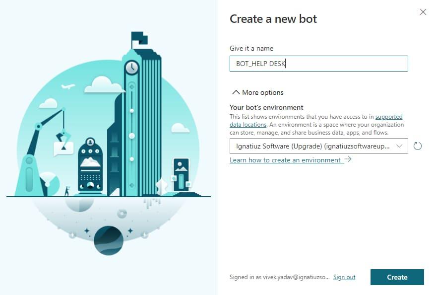 Create new bot