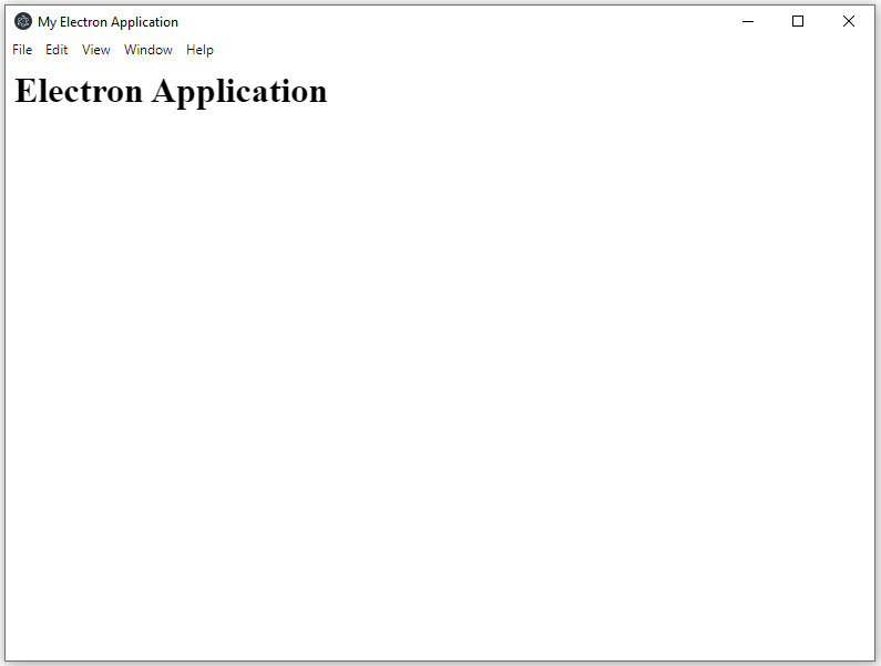 Application output