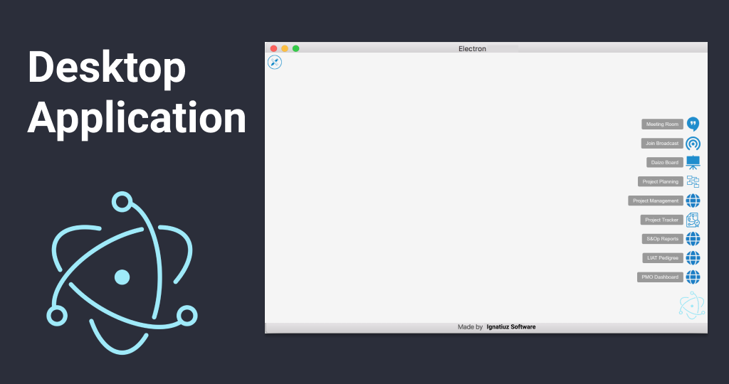 Desktop Application using Electron