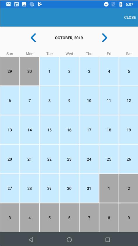 Month-view-calendar
