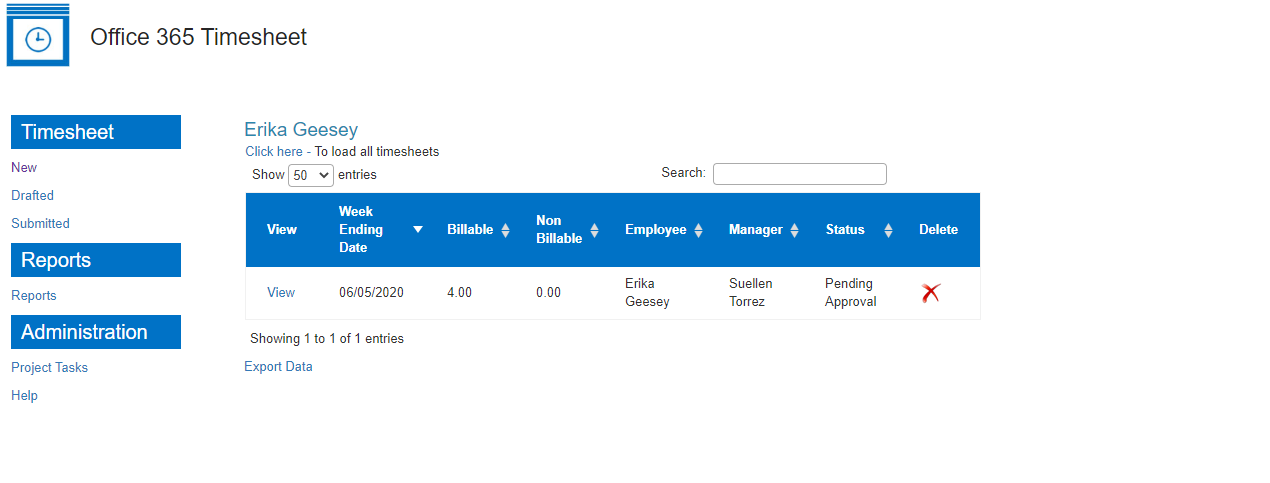 Employee's view feature