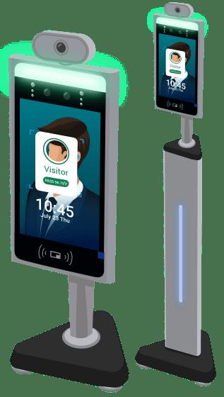 Body temperature screening kiosk
