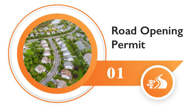 Online road opening permits